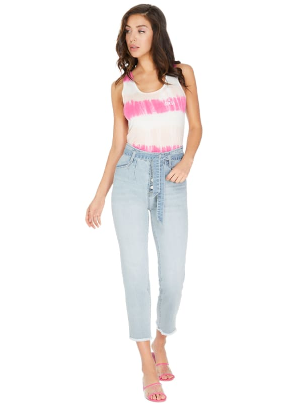 GUESS Factory Kachele Tie-Front Wide-Leg Jeans