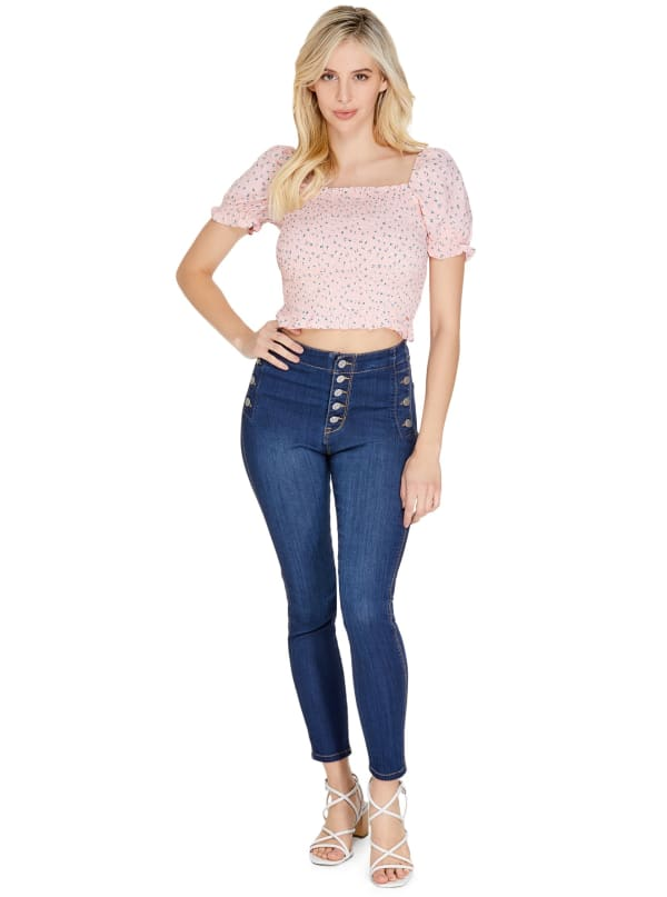 GUESS Factory Narya Sailor Super-High Rise Jeans