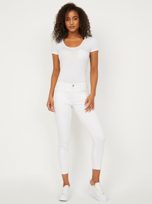 GUESS Factory Beyla Curvy Mid-Rise Skinny Jeans
